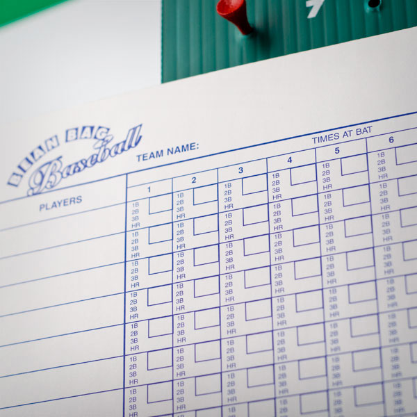 Baseball Score Sheet Scorecard Scorekeeping Information  Photo