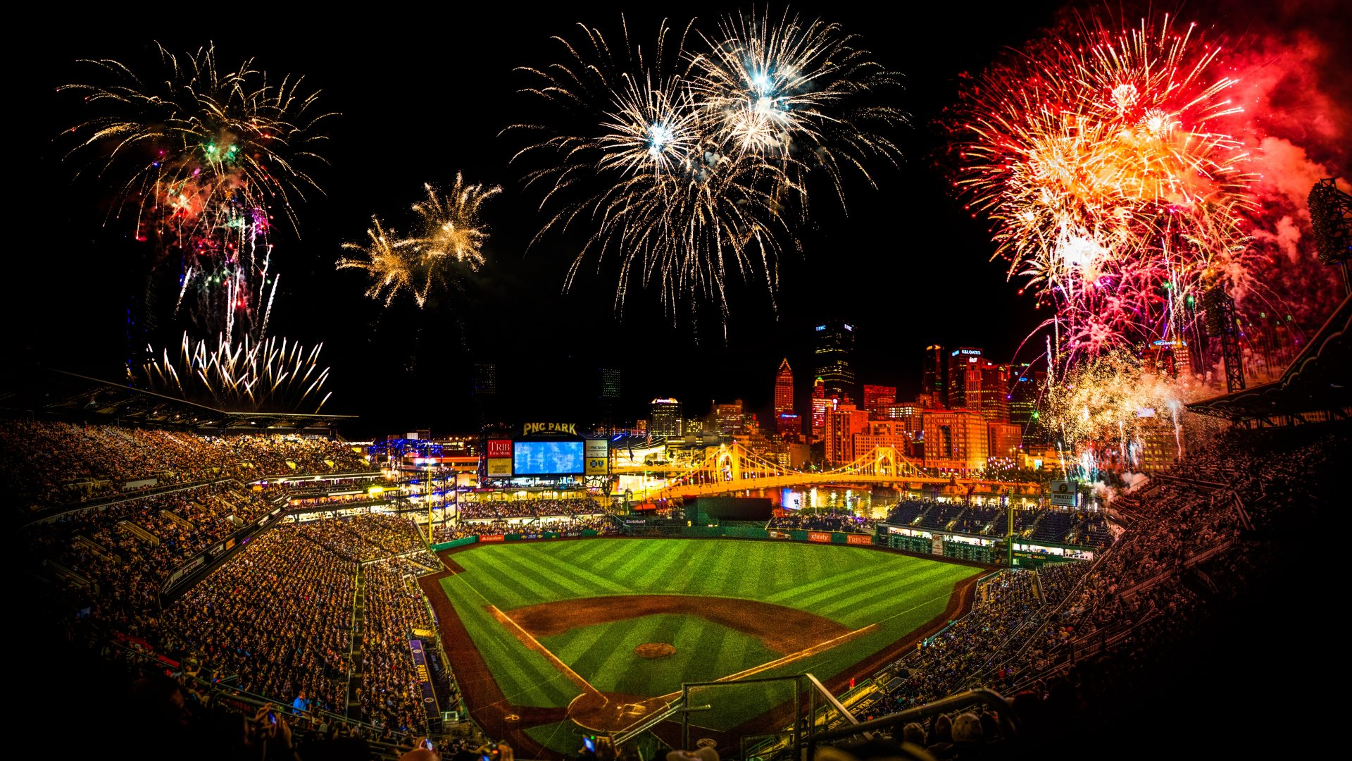 Best baseball stadiums mlb ballpark rankings top 5 for Baseball stadium mural wallpaper