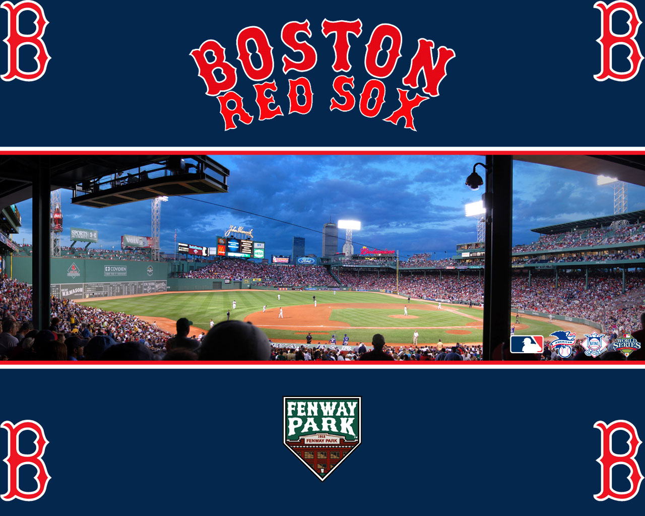 Major league baseball stadiums stadium dimensions mlb - Red sox iphone background ...