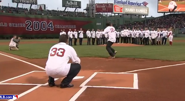 Johnny Damon Manny Ramirez first pitch cutoff