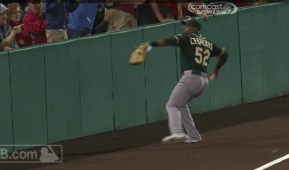 Yoenis Cespedes throw