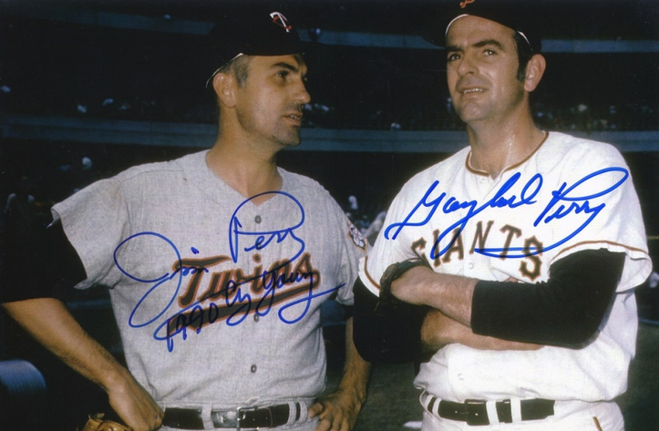 Gaylord and Jim Perry autograph