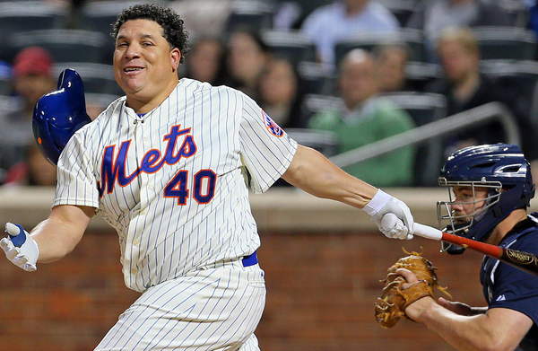 Bartolo Colon hitting