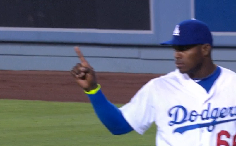 Yasiel Puig finger wave