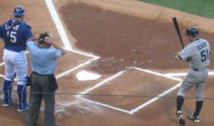 Ichiro batters box